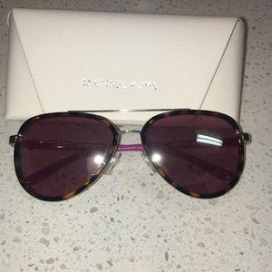 Michael Kors aviator sunglasses pink bows tortoise